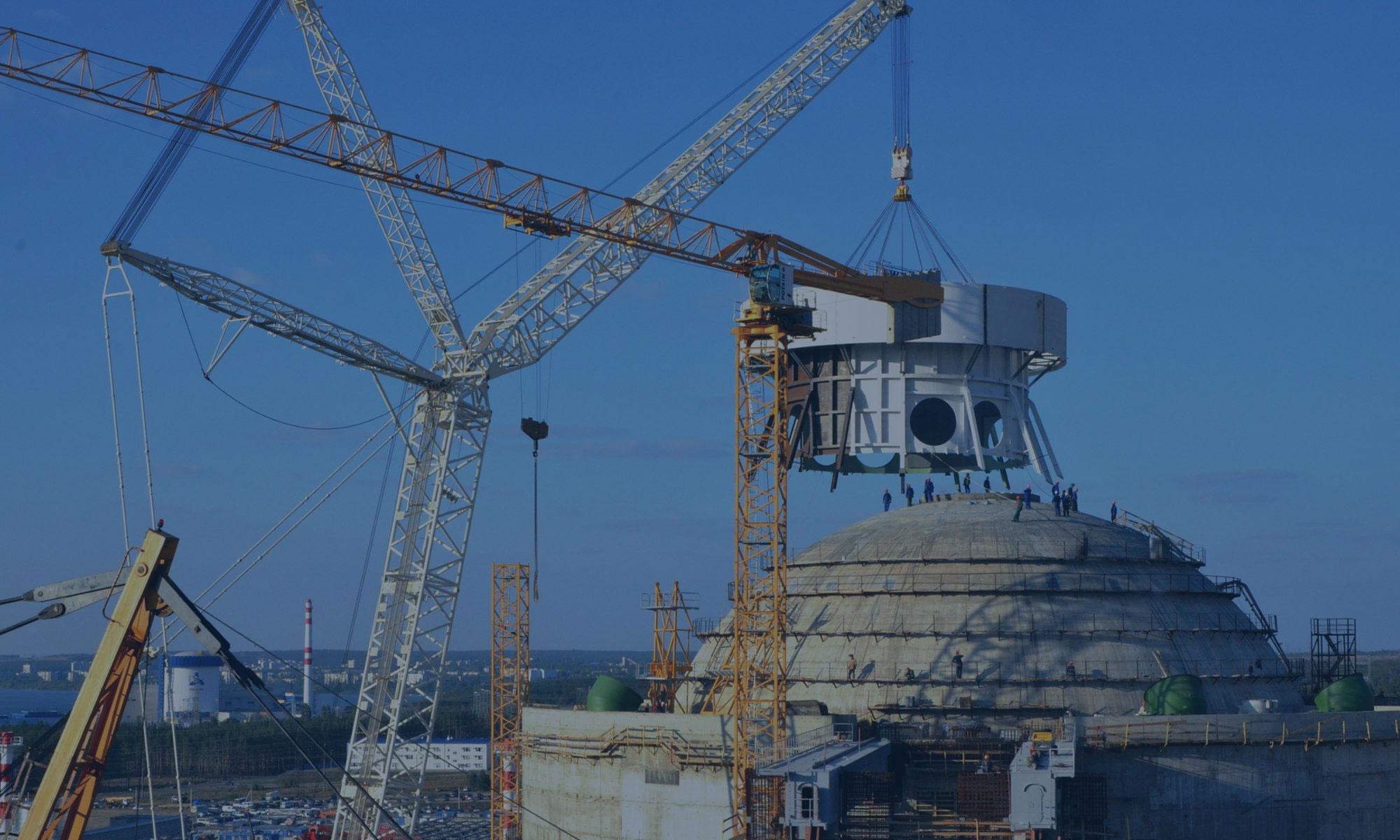 Проектирование и строительство башен блока №1 НВАЭС-2