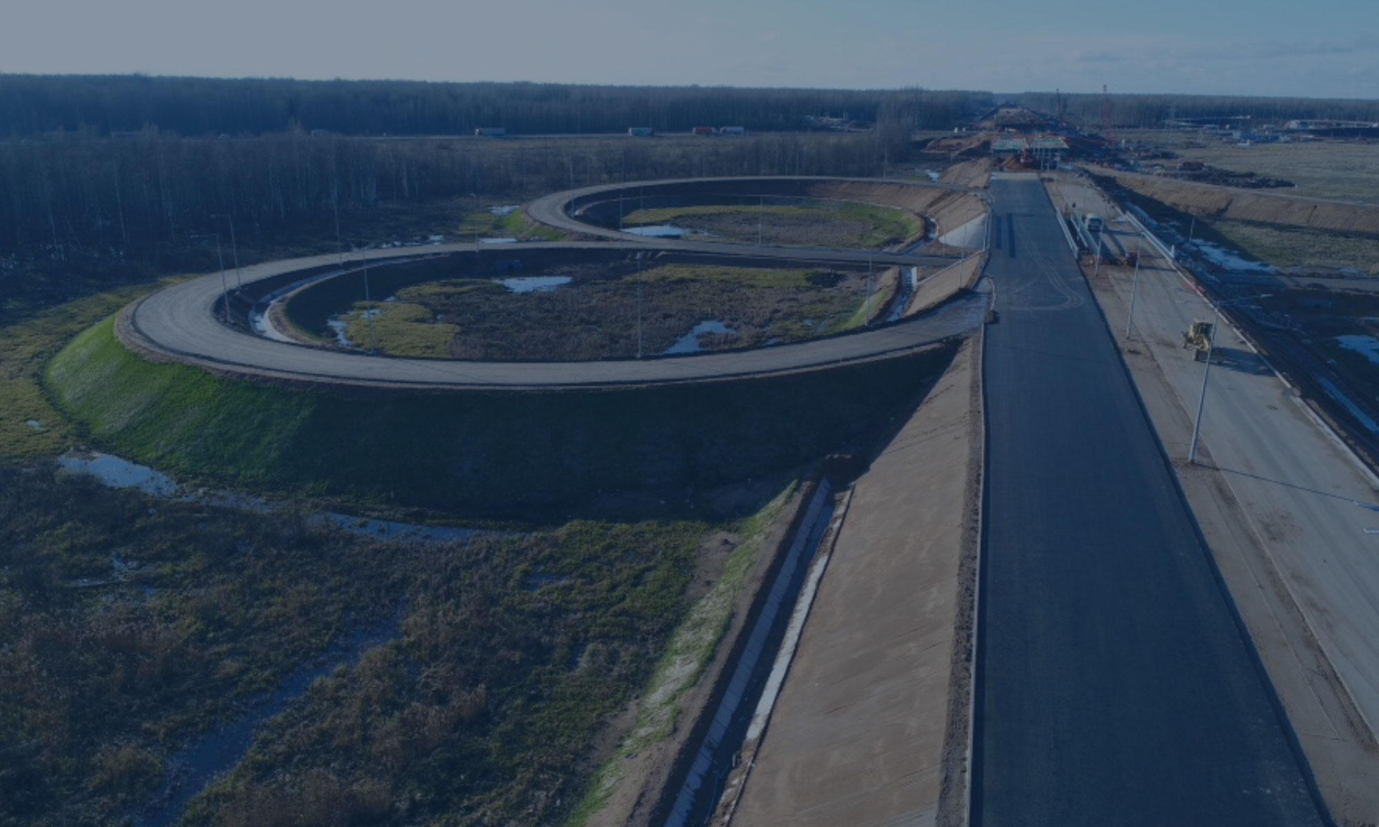 Строительство скоростной автомобильной дороги Москва — Санкт-Петербург на участке км 58 — км 684