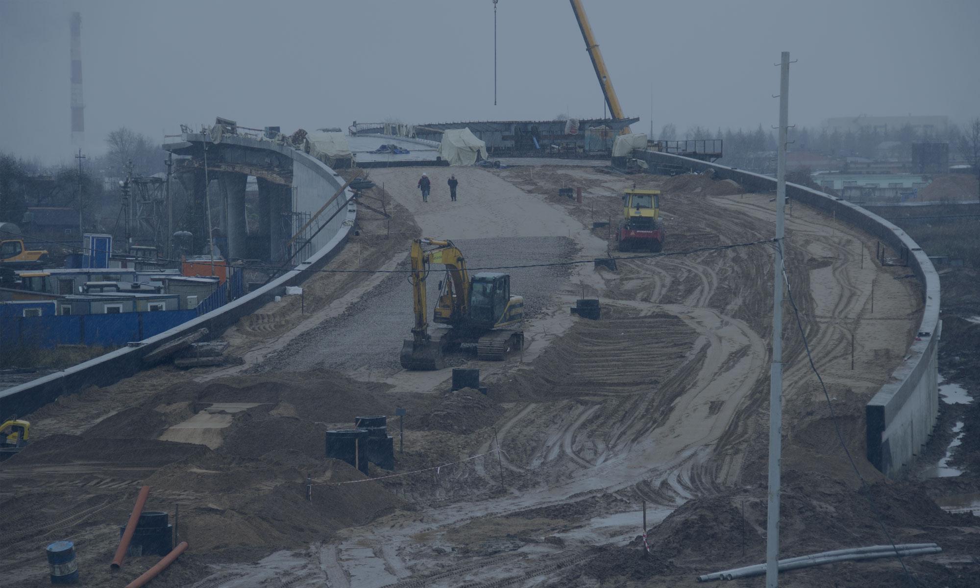 Строительство автодорожного путепровода через железную дорогу в г. Великие Луки Псковской области