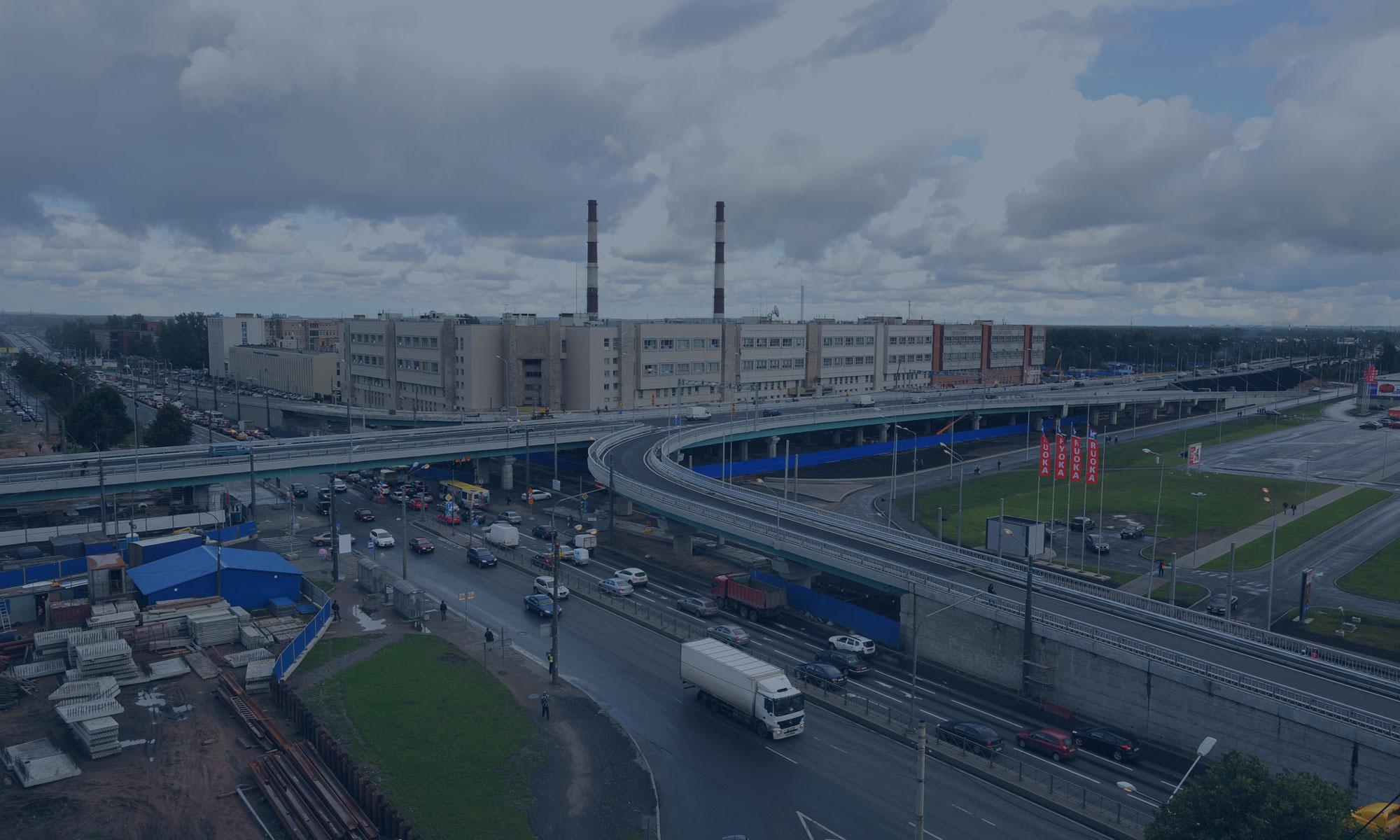 «Транспортная развязка на пересечении Пискаревского проспекта и проспекта Непокоренных», Санкт-Петербург.