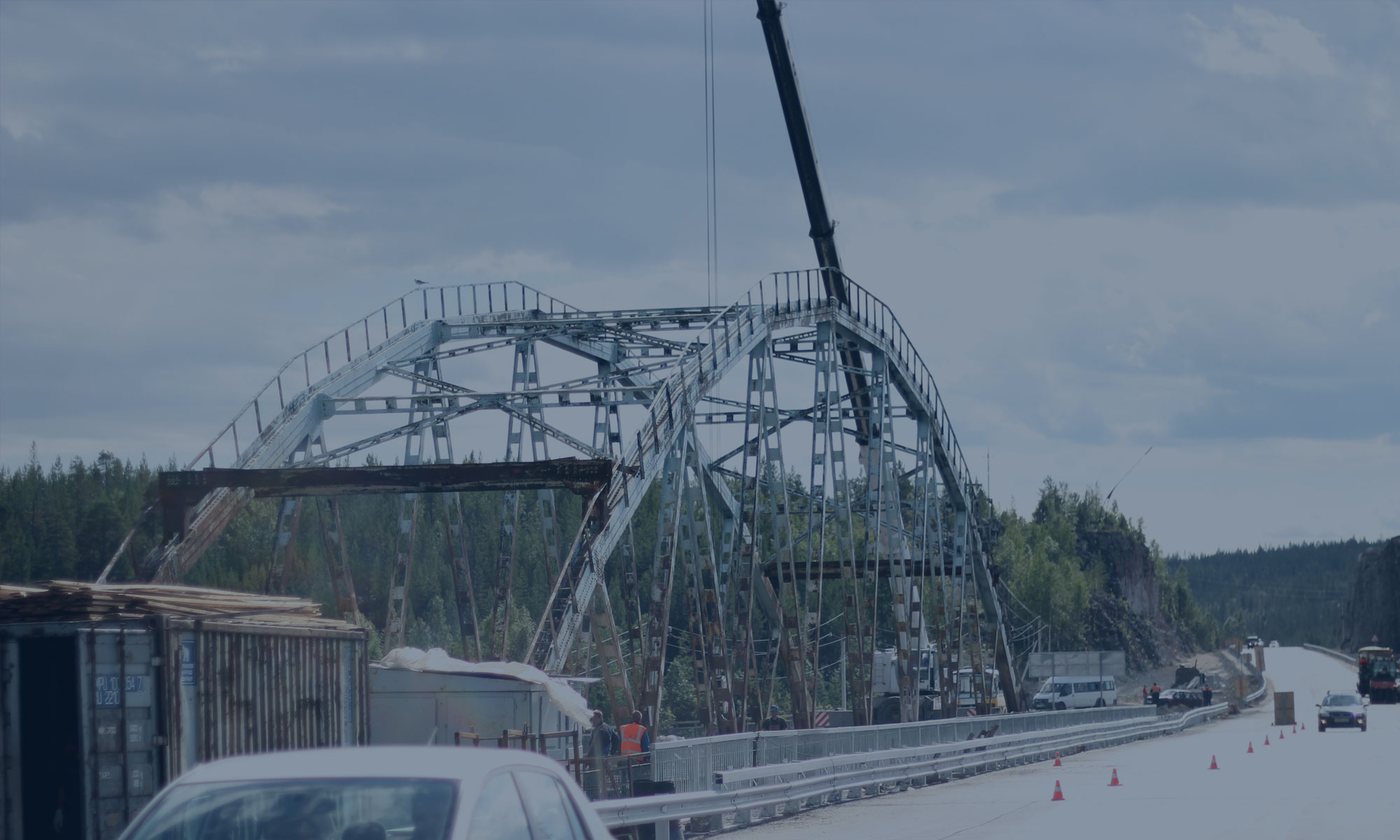 Реконструкция мостового перехода через реку Широкая Салма