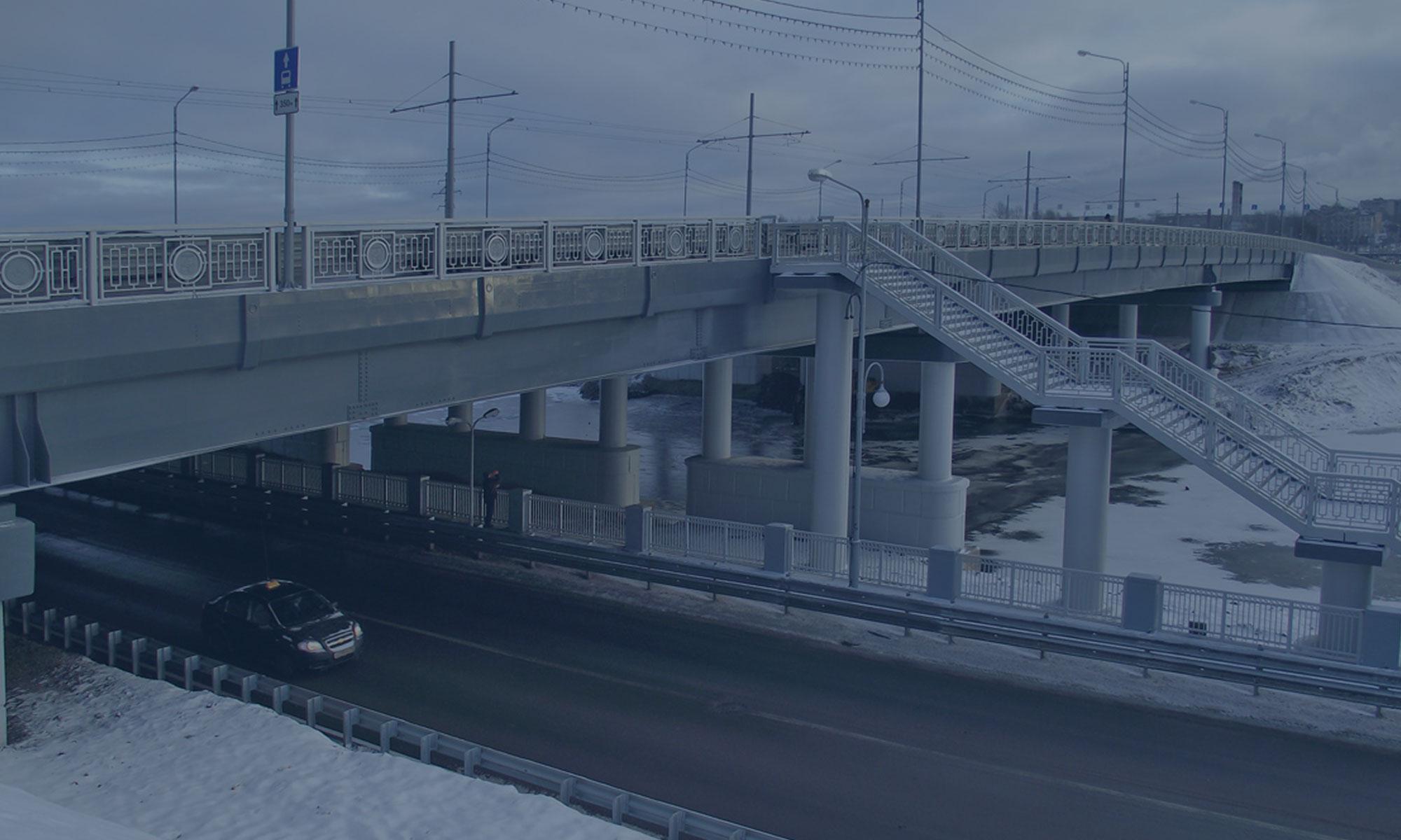 Выполнение работ по строительству путепровода на км 116+111 и реконструкции моста через реку Ягорба на км 116+382