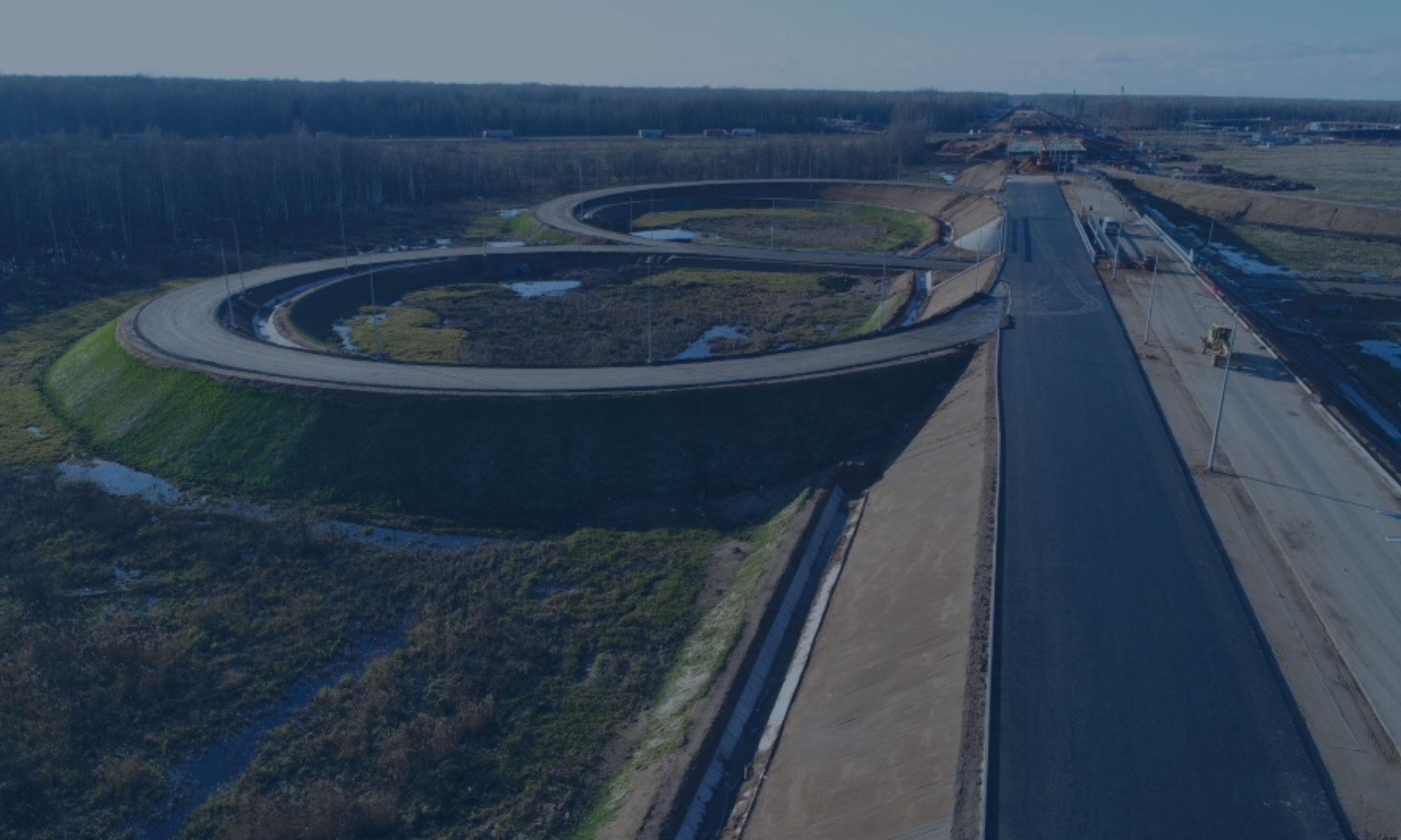 Строительство скоростной автомобильной дороги Москва – Санкт-Петербург на участке км 58 – км 684